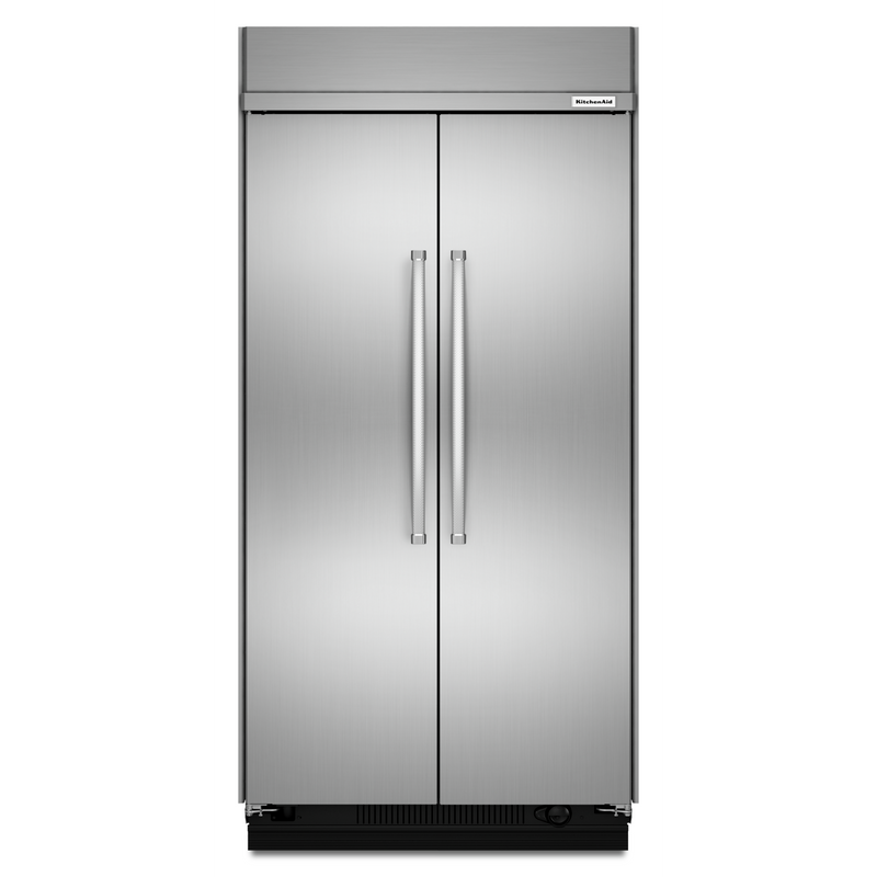30.0 cu. ft 48-Inch Width Built-In Side by Side Refrigerator with PrintShield™ Finish KBSN608ESS