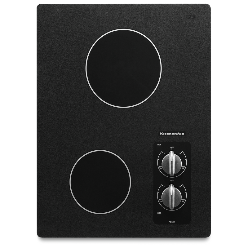 "15"" Electric Cooktop with 2 Radiant Elements KECC056RBL"