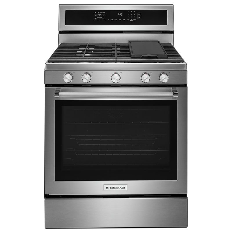 30-Inch 5-Burner Gas Convection Range KFGG500EWH