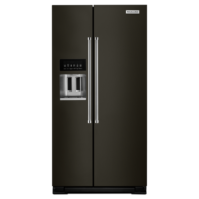 24.8 cu ft. Side-by-Side Refrigerator with Exterior Ice and Water KRSF705HBS