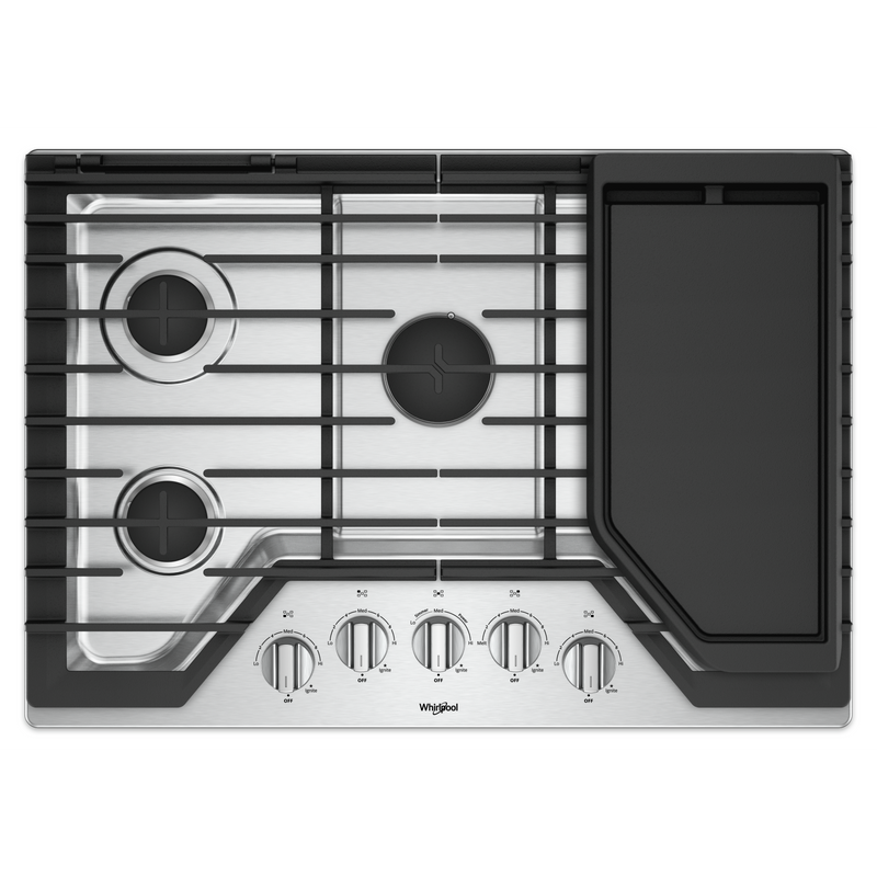 30-inch Gas Cooktop with Griddle WCG97US0HS