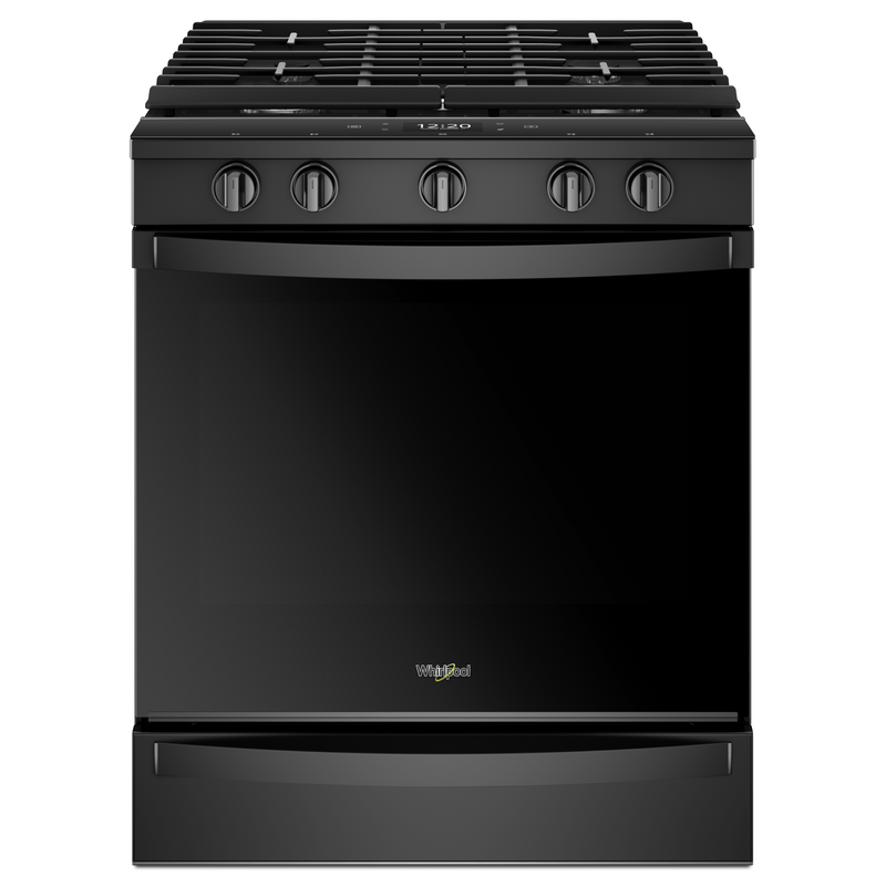 5.8 cu. ft. Smart front control Gas Range with EZ-2-Lift™ Hinged Cast-Iron Grates WEG750H0HB