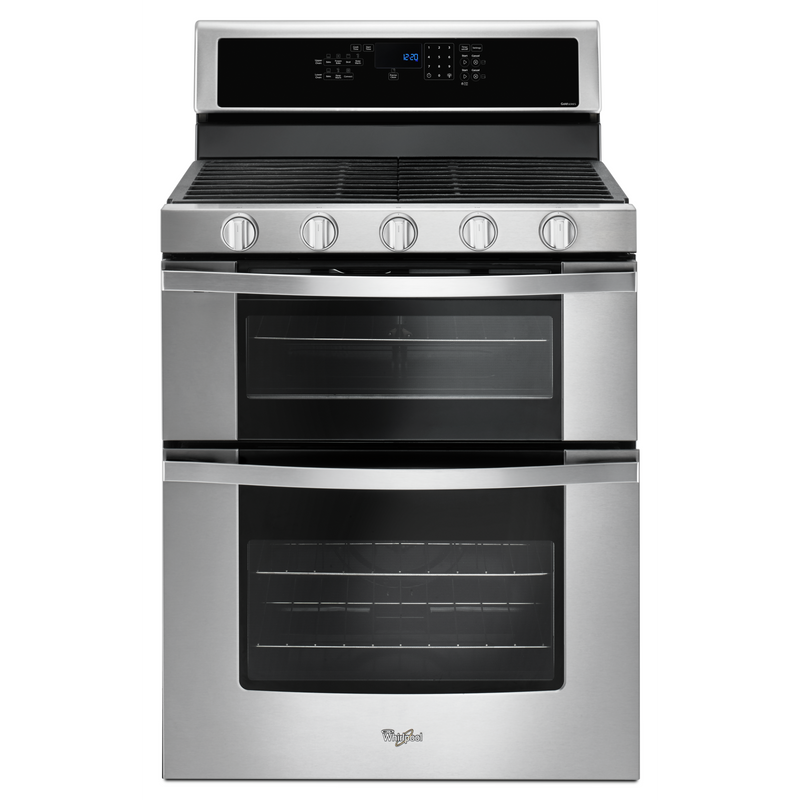 Whirlpool® 6.0 Cu. Ft. Gas Double Oven Range with Center Oval Burner WGG745S0FS