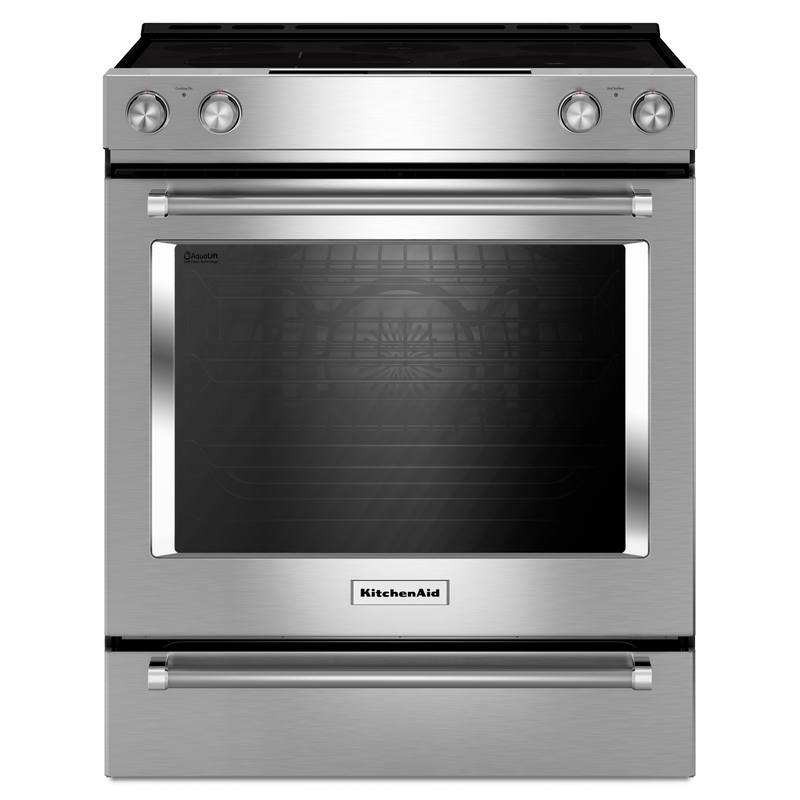 30-Inch 5-Element Electric Convection Slide-In Range with Baking Drawer YKSEB900ESS