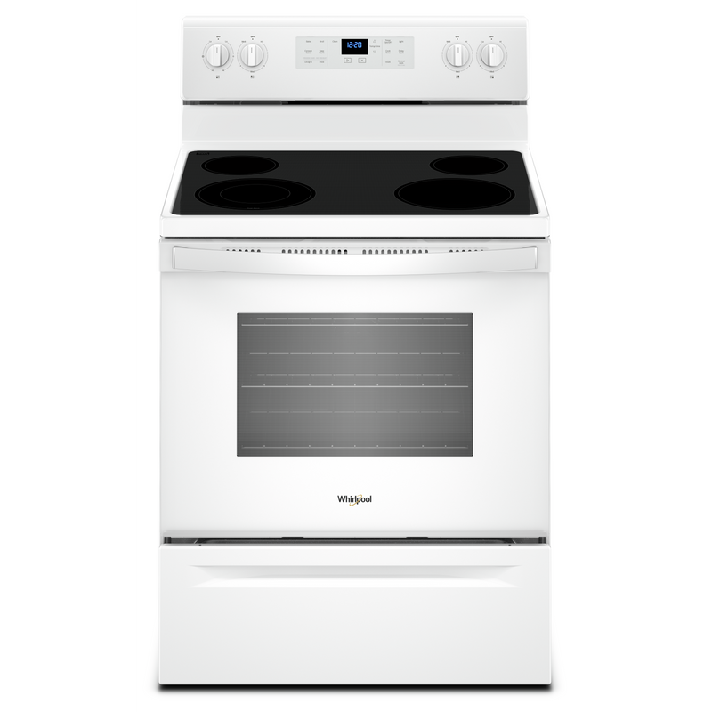 5.3 cu. ft. guided Electric Freestanding Range with True Convection Cooking YWFE521S0HW