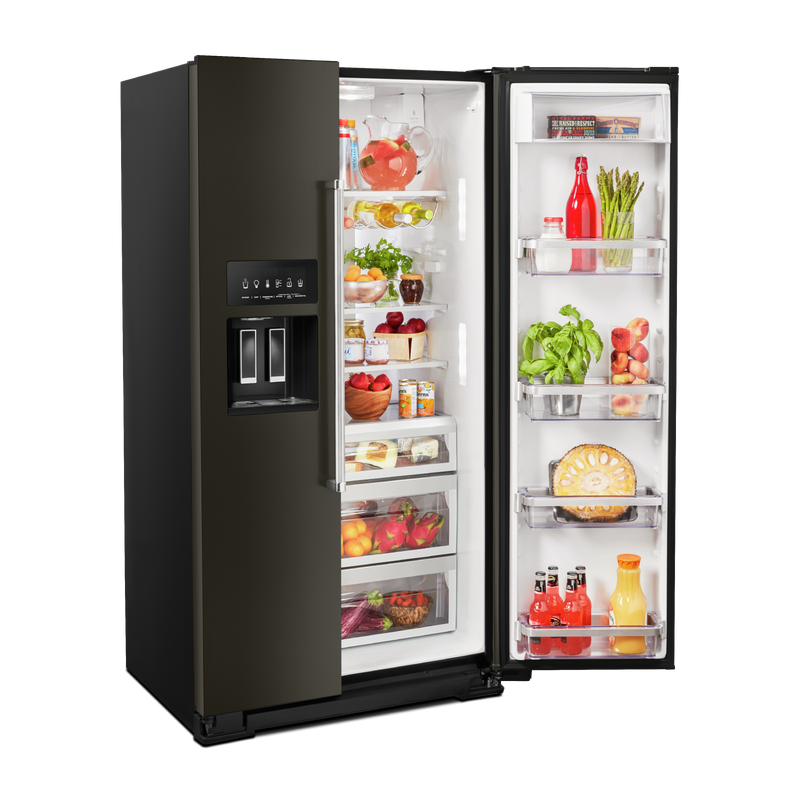 19.9 cu ft. Counter-Depth Side-by-Side Refrigerator with Exterior Ice and Water KRSC700HBS