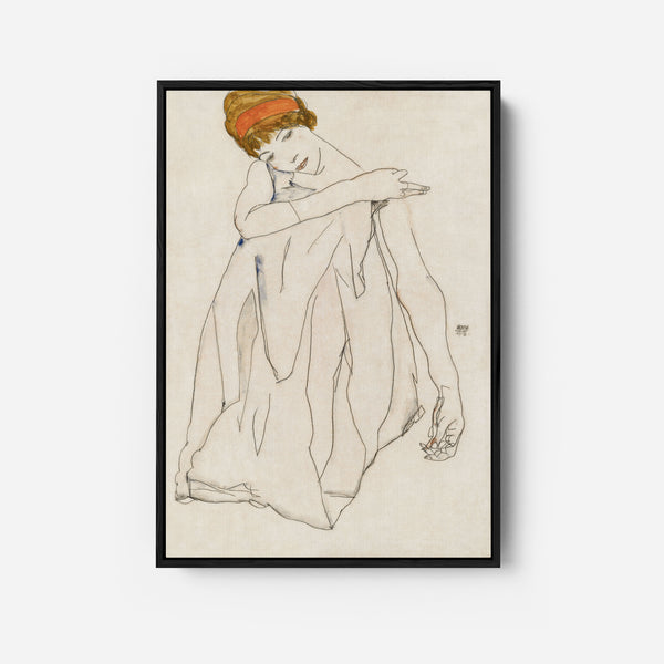 Dancer by Egon Schiele (1913)