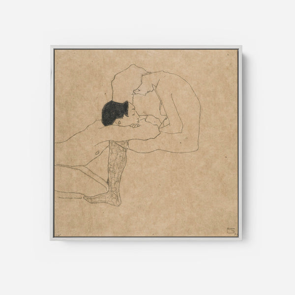 Lovers By Egon Schiele (1914)
