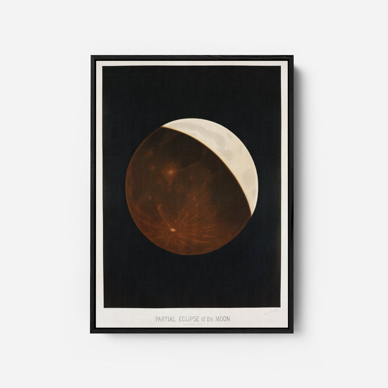 Partial eclipse of the moon by Étienne Léopold Trouvelot