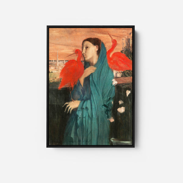Young Woman with Ibis  by Edgar Degas