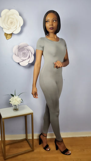 Pull Up Jumpsuit - Gray