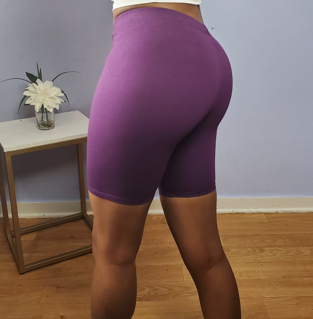 Biker Shorts - Purple