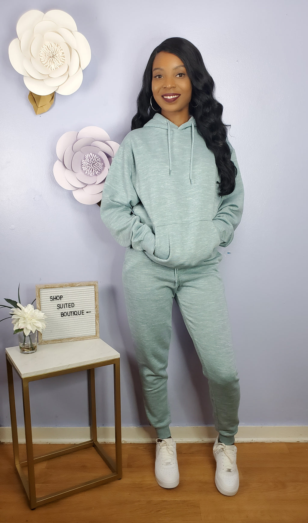 Frosty - Icy Blue Jogger Set