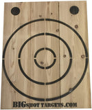 Wooden Axe Throwing Target with Bottle Opener