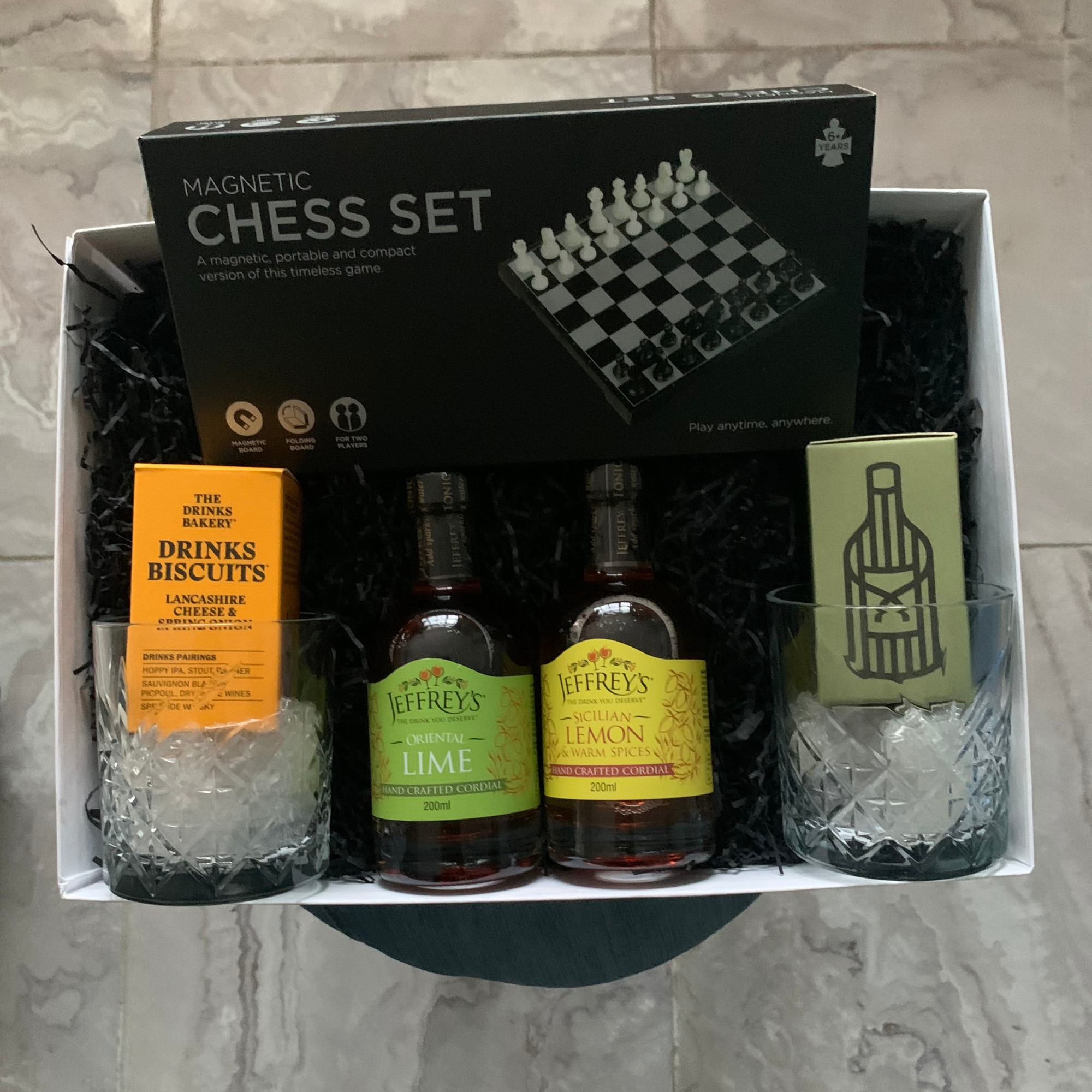 Chess Board & Drinks Gift
