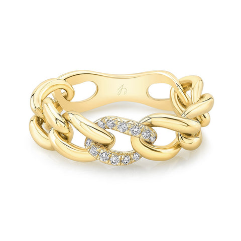 Pave Link Ring