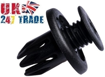 10 x HONDA VAUXHALL 10mm WHEELARCH SPLASHGUARD BUMPER TRIM CLIPS 2475