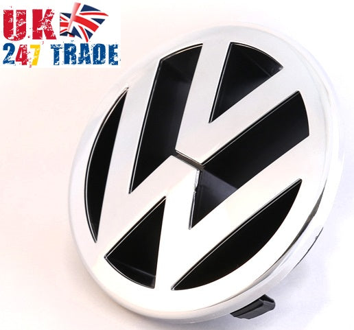VW GOLF POLO EOS CADDY FRONT 125mm GRILLE EMBLEM CHROME BADGE 1T0853601A