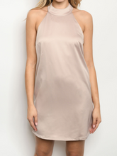 Load image into Gallery viewer, Satin Taupe Dress