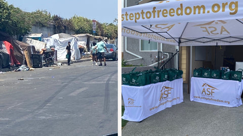 A Step to Freedom, Transitional Living, Nonprofit, Blessing Bag Campaign, Los Angeles
