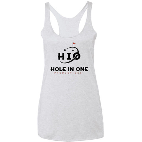 Hole In One Productions Ladies' Triblend Racerback Tank in white from Hole in One Productions.