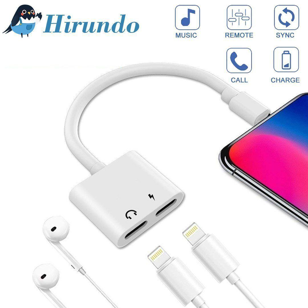 Hirundo Headphone Jack Adapter Compatible for iPhone
