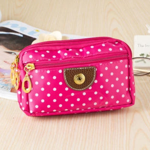 Ladies Coin Multilayer Mini Canvas Bag