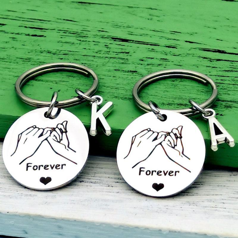 Stainless Steel Love Forever Keychain