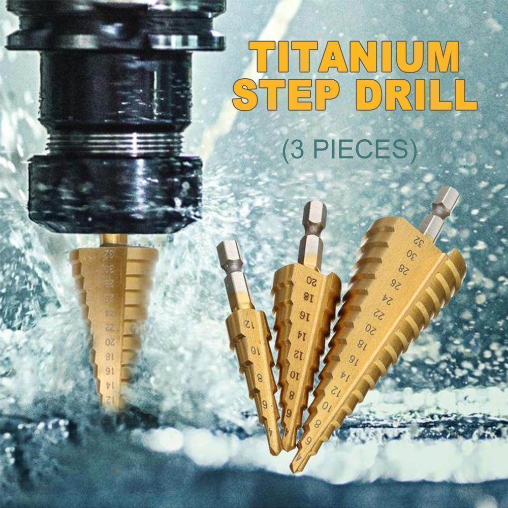 Domom® Titanium Step Drill (3 pieces)