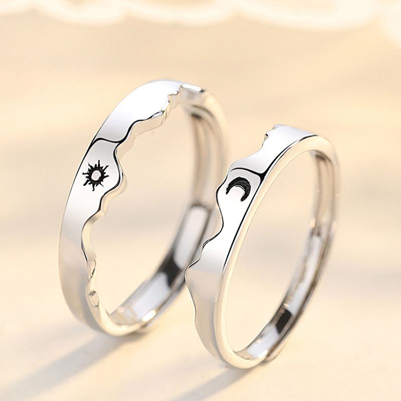 925 Sterling Silver Couple Rings