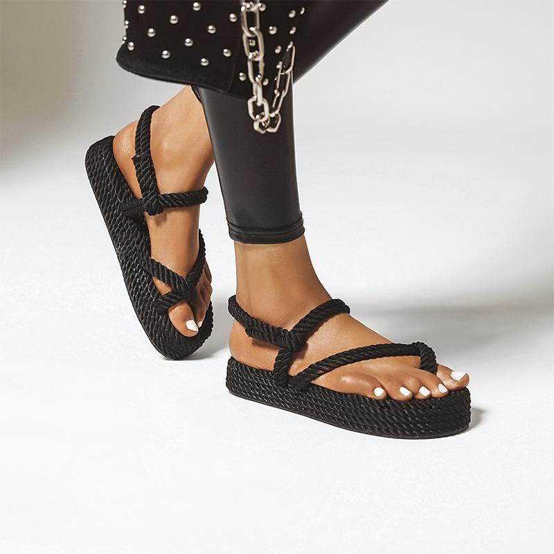 Fashion Knitted Platform Sandals