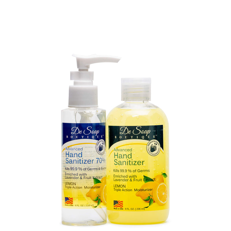 Lemon Hand Sanitizer Kit