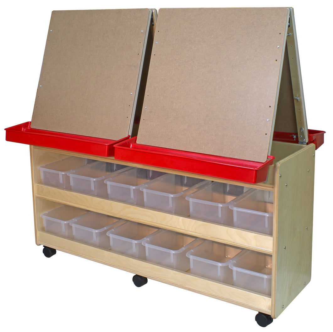 4 Station Easels with Storage - 2 Versions