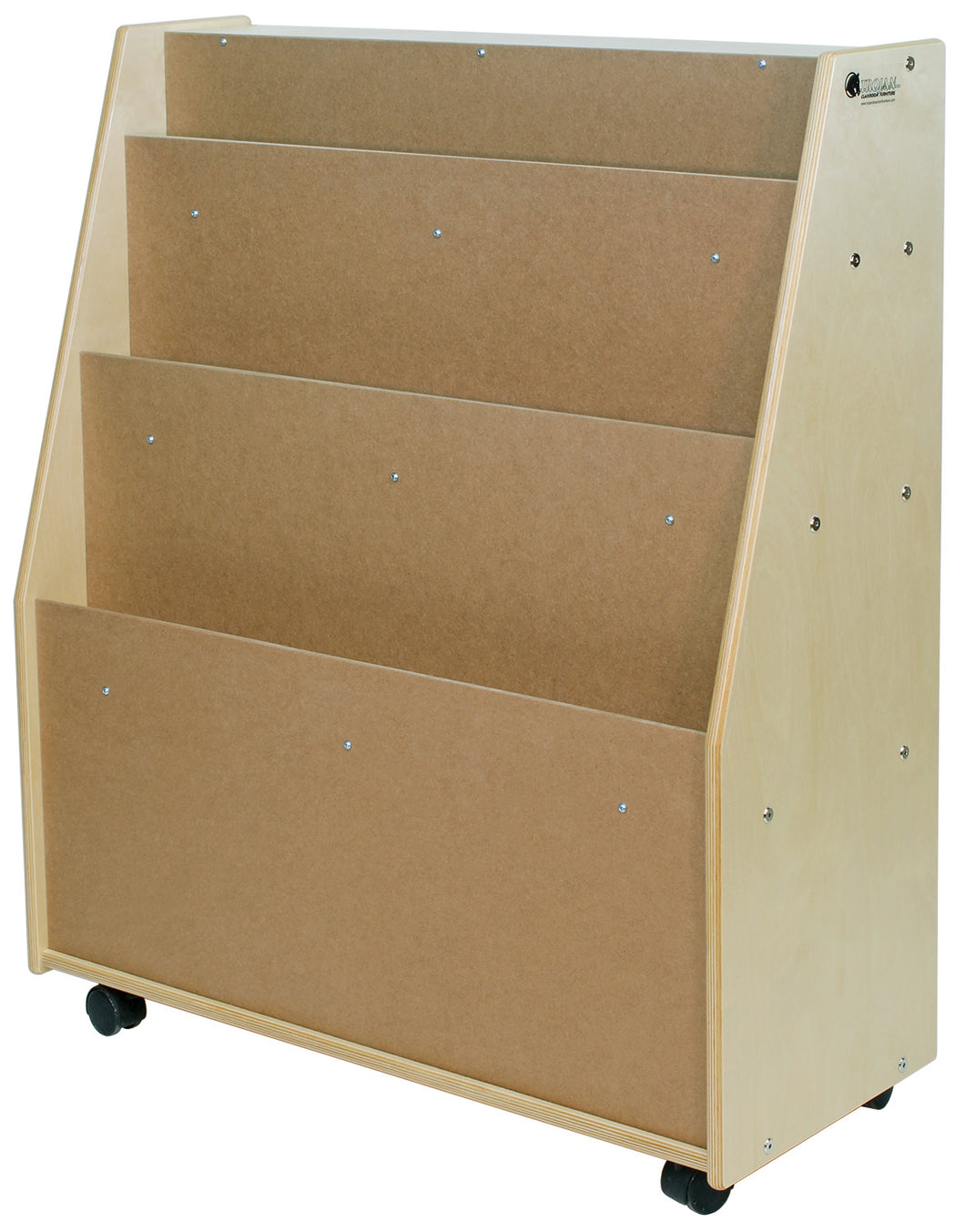 Book Mobile & Storage with 3 Shelves (S329)