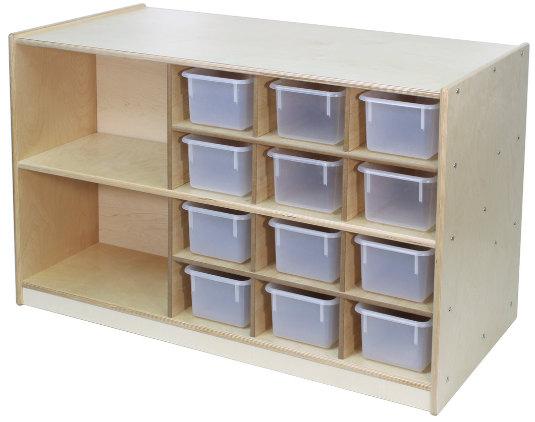 2 Sided Workstation with Cubbies on Casters (S348)