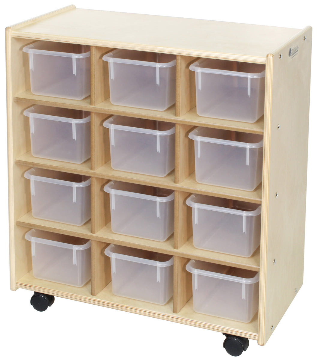 12 Small Bin Cubby Storage Units - 2 Versions