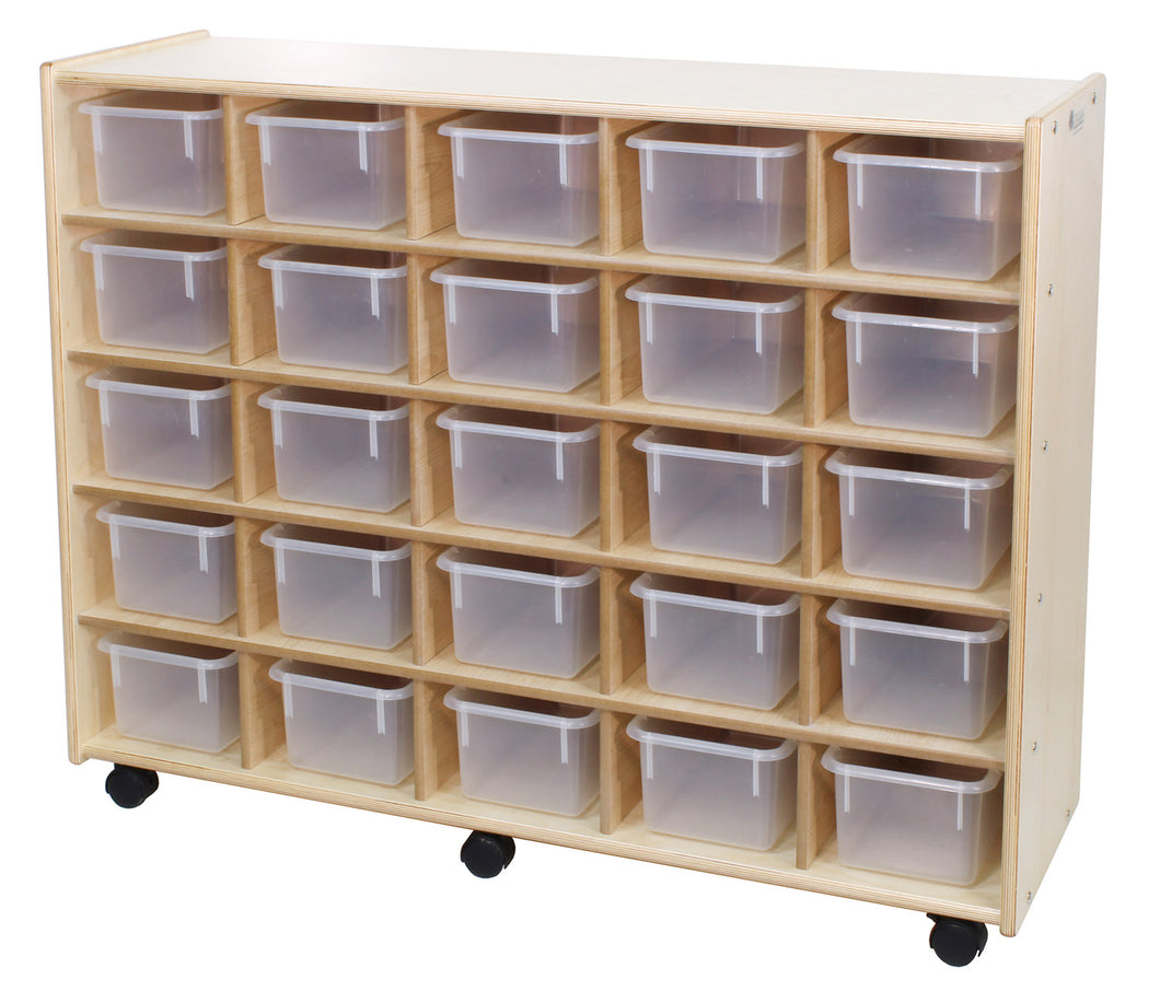 25 Small Bin Cubby Storage Units - 2 Versions