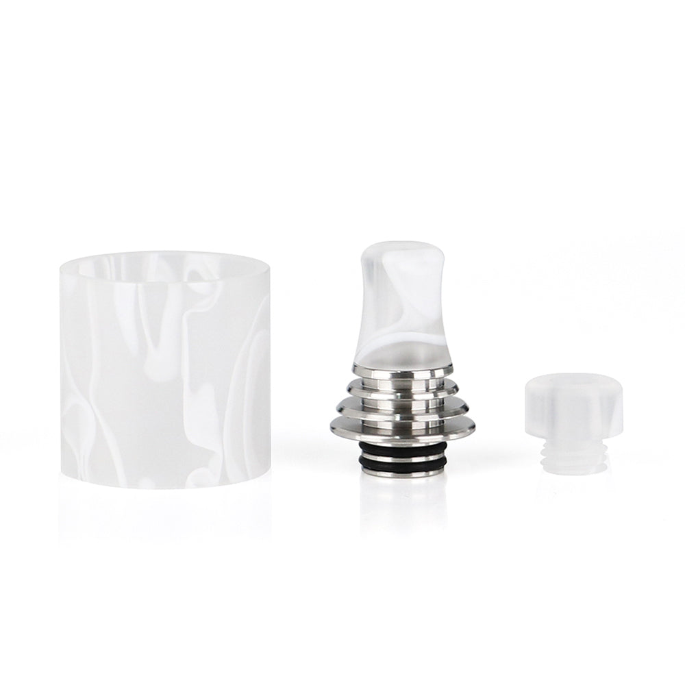 Resin Tube and 510 Drip Tip for Vapefly Brunhilde MTL RTA