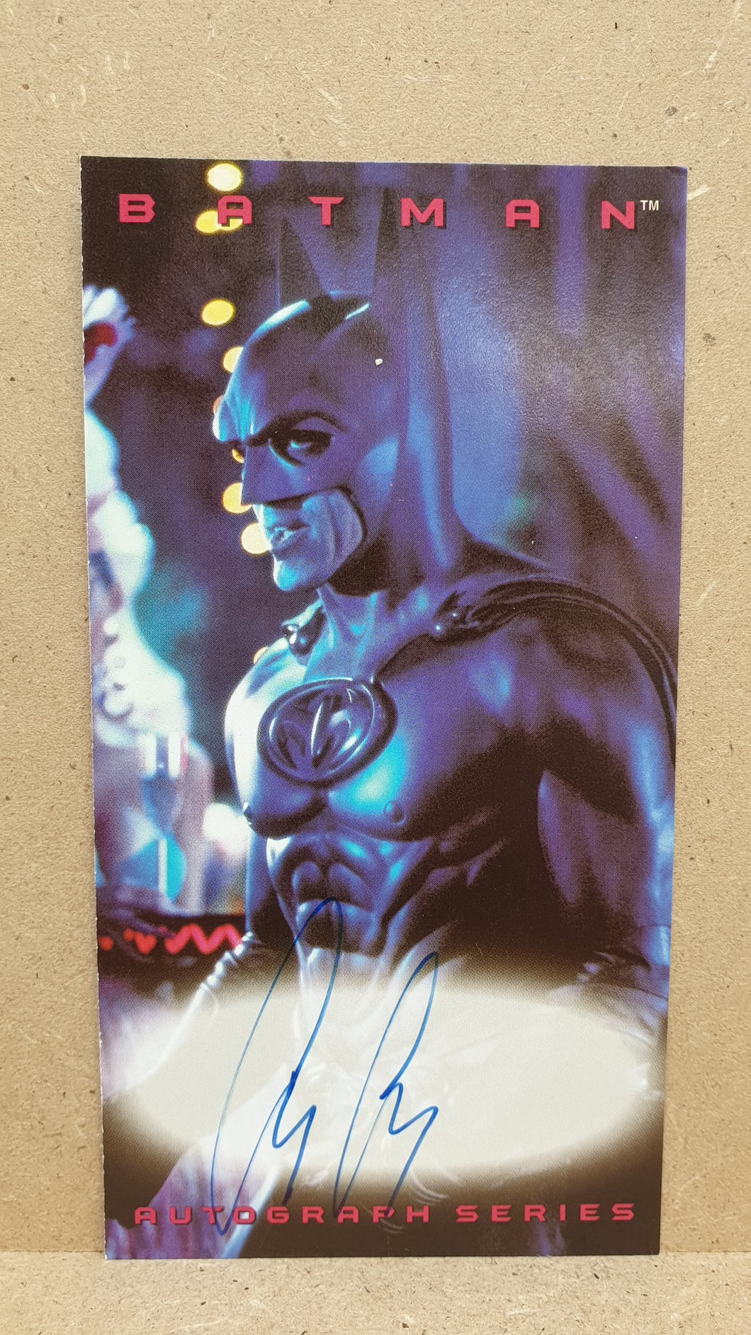 Autographed Trading Card: Batman/George Clooney