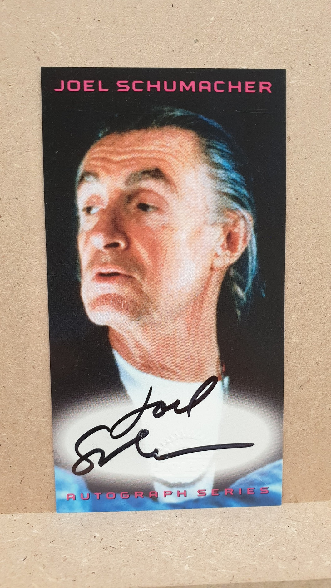 Autographed Trading Card: Joel Schumacher