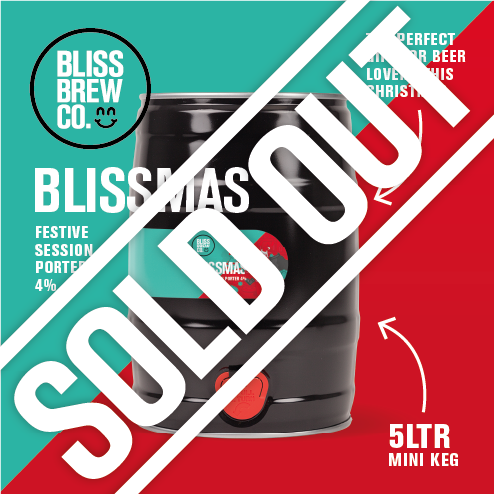 Blissmas - Festive session Porter - 5ltr Mini Keg - ABV 4%