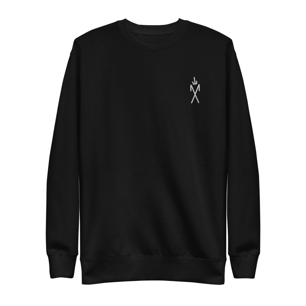 Sigil Embroidered Crewneck - Black