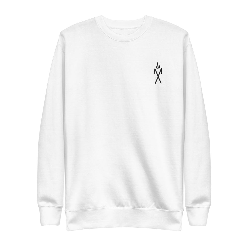 Sigil Embroidered Crewneck - White