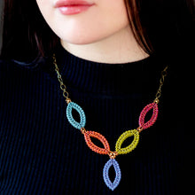 Load image into Gallery viewer, Hojas Necklace - 5 Multi Colored Leaves