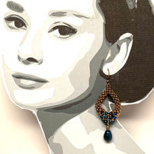 Load image into Gallery viewer, Tori Earring with Drop | Petite | Petrol