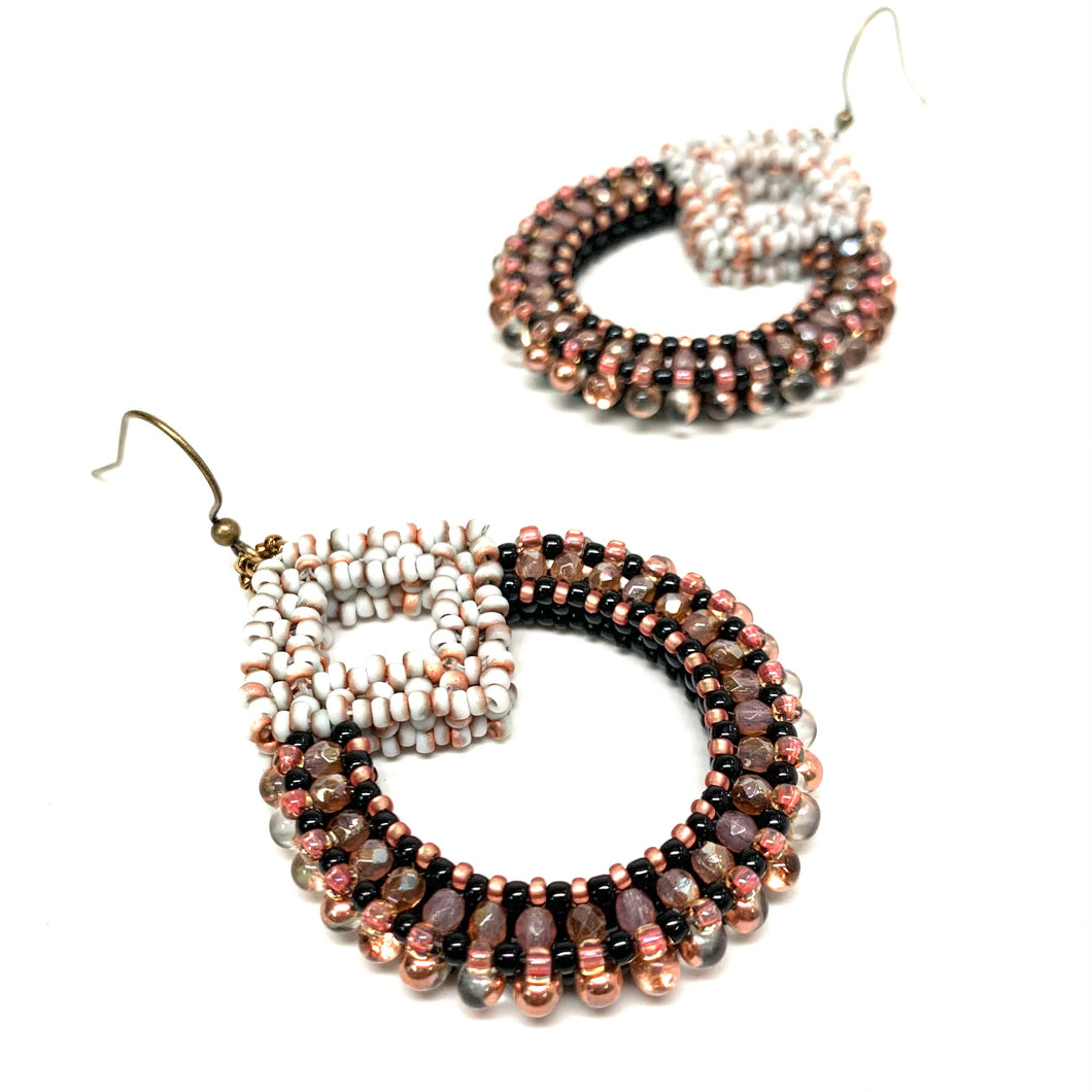 Manisha Earring | Black & Copper