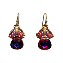 Load image into Gallery viewer, Persian Swarovski Earring - Red & Purple