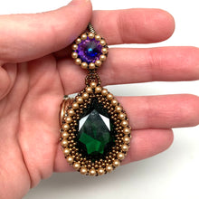 Load image into Gallery viewer, Statement Pendant - Heliotrope & Dark Green