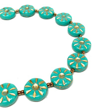 Load image into Gallery viewer, Czech Disc Bracelet | Turquoise