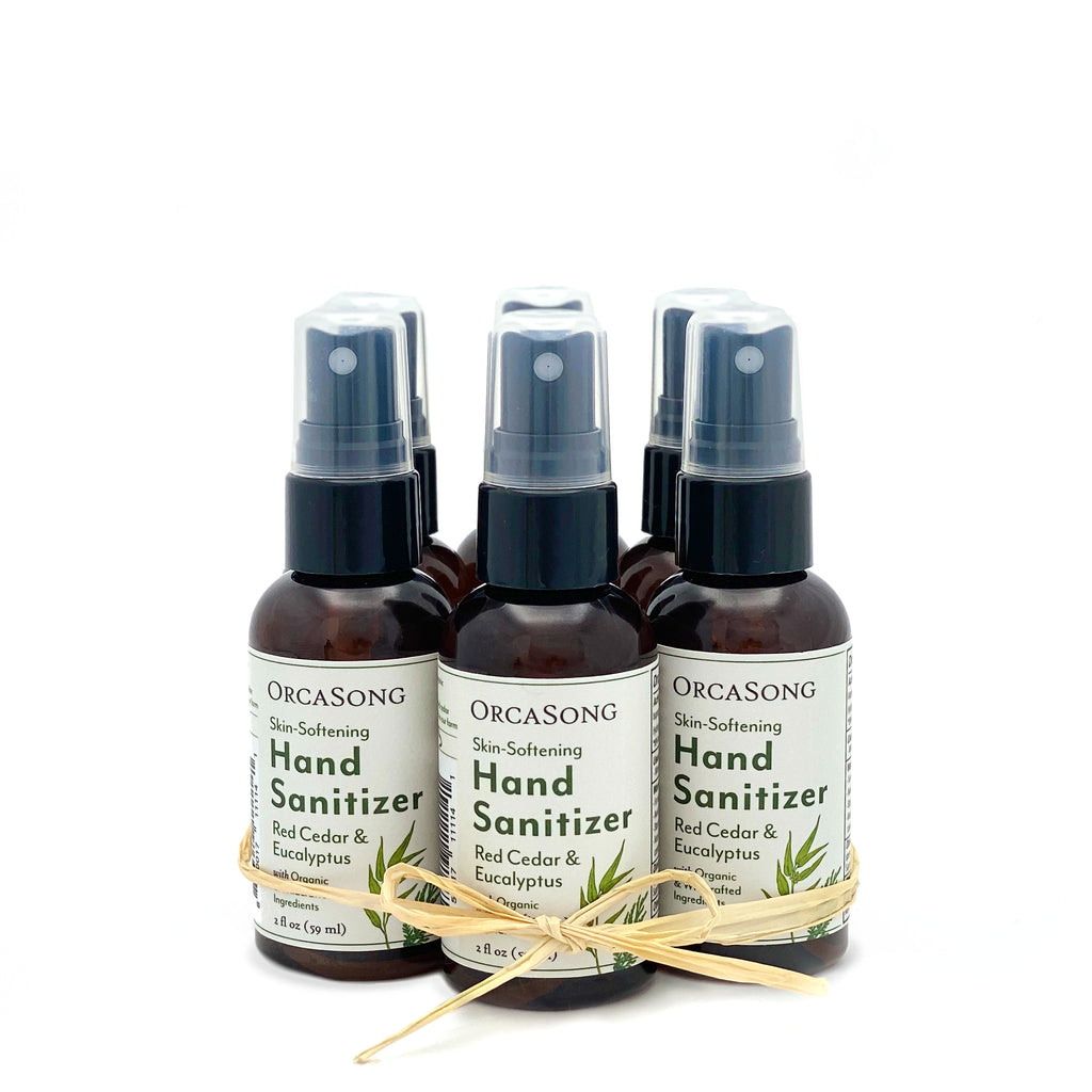 Red Cedar and Eucalyptus Hand Sanitizer Spray Travel-Size Gift Bundle